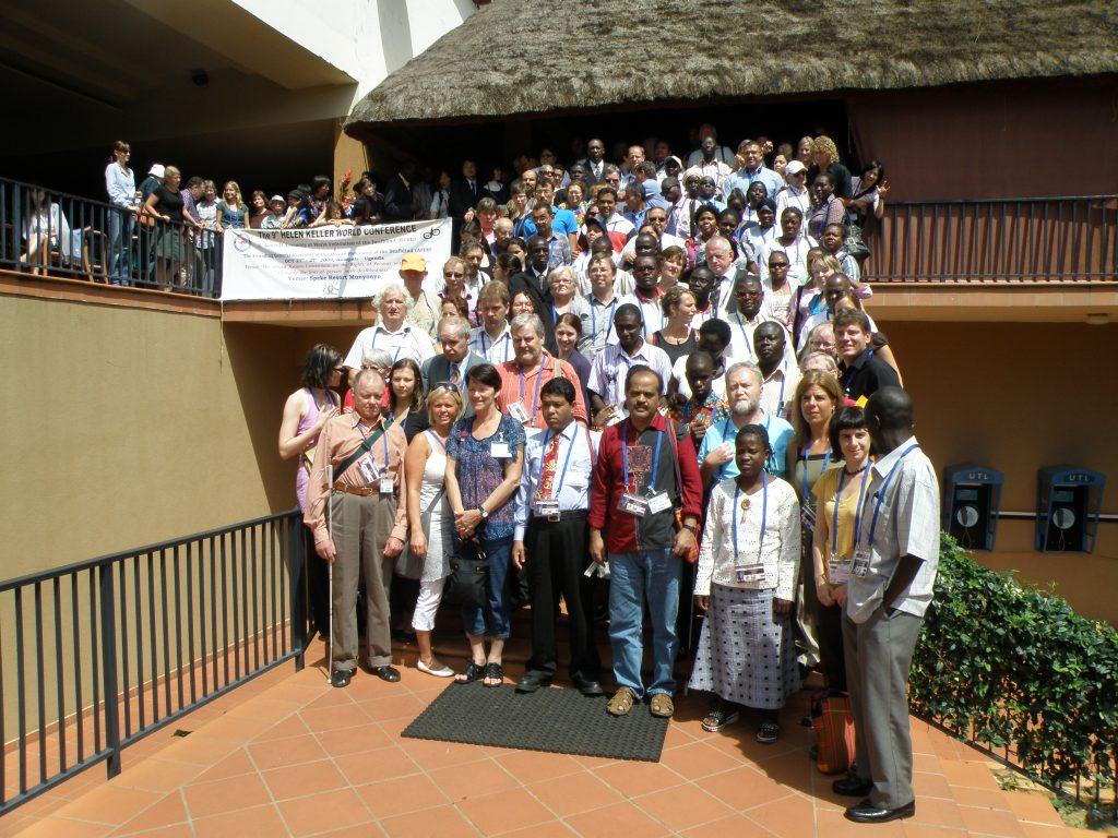 Participants of Helen Keller World Conference of 2009 in Uganda