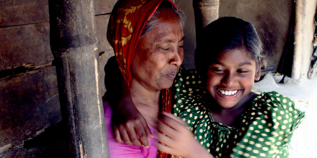 Daugther with deafblindness and mother